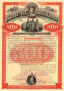 State of Louisiana New Consolidated $500 Bond 1892
