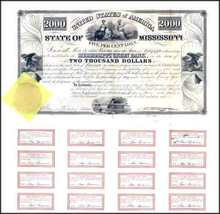 State of Mississippi 1838 - Famous State Default Bond
