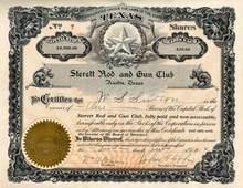 Sterett Rod and Gun Club 1914 - Austin, Texas