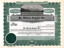 St. Helens Copper Co. - Vignette of Mt. St. Helens pre Blow Up