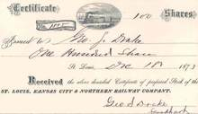 St. Louis, Kansas City & Northern Railroad Company 1873