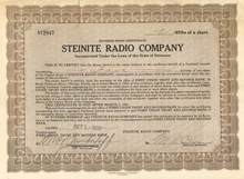 Steinite Radio Company - 1929