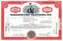 Subscription Television Issued to and signed by Jerry Lewis RARE
