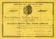 Sullivan County Mica Mining Company - Lions's Head Vignette - 1897