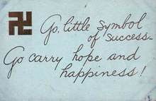 Swastika Postcard - Good luck symbol prior to Hitler - 1911