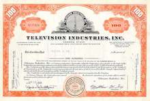 Television Industries, Inc Stock Certificate