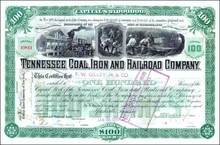 Tennessee Coal, Iron and Railroad Company 1898 - Original Dow Industrial Average Company