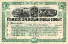 Tennessee Coal, Iron and Railroad Company 1900 signed by Julius S. Bache