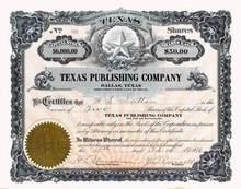 Texas Publishing Company 1916 - Dallas, Texas