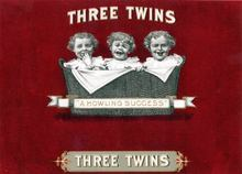 Three Twins Cigar Label