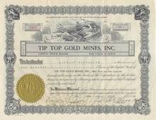 Tip Top Gold Mines, Inc. 1930's