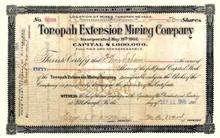 Tonopah Extension Mining Company 1906 - Tonopah, Nevada