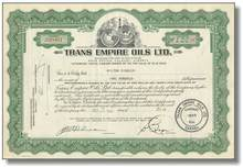 Trans Empire Oils, Stock 1950's ( CanDel Oil Ltd )