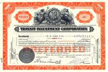 Transit Investment Corporation 1938-1943