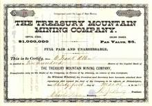 Treasury Mountain Mining Company - New Mexico 1885