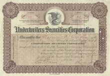 Underwriters Securities Corporation 1907