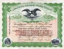 United States Automatic Vending Company 1909