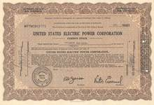 United States Electric Power Corporation 1929