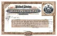 United States Sealed Postal Card Company - New York 18XX