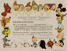 Disney - United States Treasury War Finance Committee  - Issued on January 23, 1945