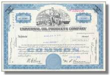 UOP (Universal Oil Products) Inc Stock Certificates