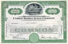 United States Lines Stock - 1940's - 1950's