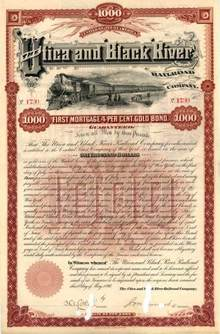 Utica and Black River Railroad Company 1890