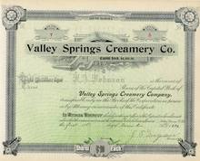 Valley Springs Creamery Company 1896