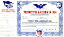 Victory for America 1964 - Barry Goldwater Stock Certificate