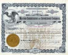 Warren Commission and Investment Company 1907