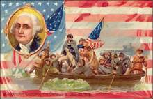 Washington Crossing the Delaware Post Card 1910