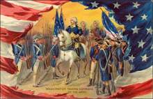 Washington Taking Command of the Army Post Card