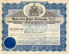 Watervliet Paper Company Stock 1920's - Blue