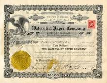 Watervliet Paper Company Stock 1915
