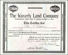 Waverly Land Company 1896