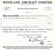Westland Aircraft - 1960 UK