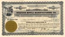 Western Nipple Manufacturing Company - California 1925
