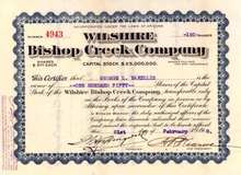 Wilshire Bishop Creek Company 1910