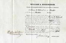 William A. Buckingham (Connecticut Governor) Appointment 1861