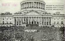 President Wilson's Inaugural Address - Photo Postcard 1917