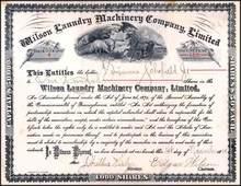 Wilson Laundry Machinery Company, Limited 1888 - Pennsylvania
