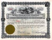 World Exploration Company 1929