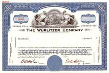 Wurlitzer Company - Famous Jukebox Maker - RARE