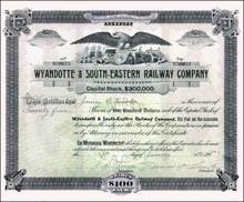 Wyandotte & South-Eastern Railway Company 1903 RARE