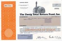 Zweig - Martin Zweig Fund - Statue of Liberty  and WTC Vignette + Martin Zweig as President
