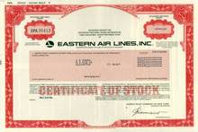 Eastern Air Lines Stock Certificate - Scripophily