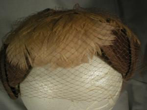 Vintage Feather and Courderoy Hat
