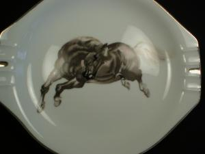 Cool Porcelain Bucking Bronco Ashtray