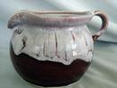 Cranberry Drip Glazed Signed Creamer