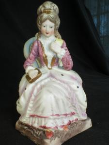 Pretty Bisque Victorian Lady Figurine